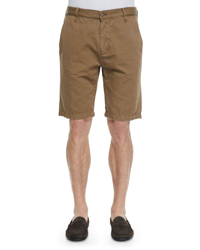 Cotton-Blend Chino Shorts, Khaki