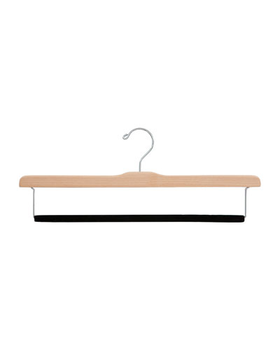 Felted Trouser Bar Hanger, Natural Finish, Set of 5