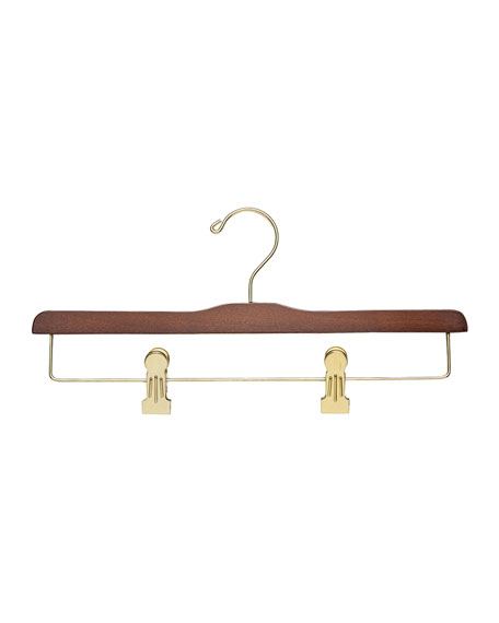 Wooden Trouser Clip Hanger, Traditional Finish