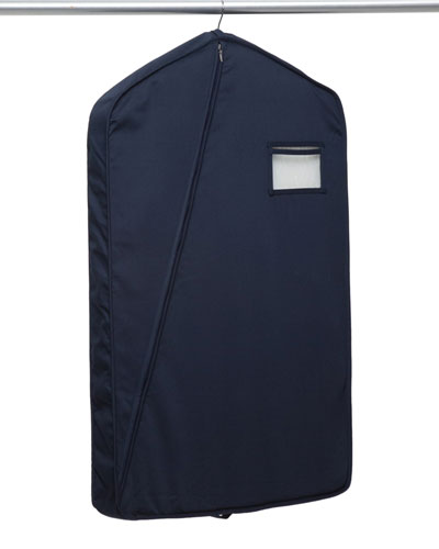 Long Luxury Garment Bag, Navy