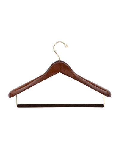 "15.5"" Wooden Suit Hanger, Traditional Finish"