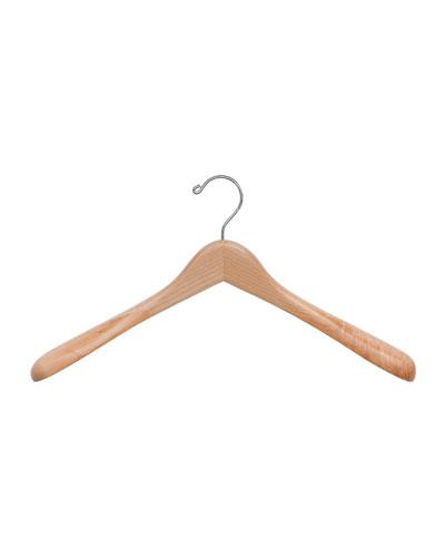 """17"""" Wooden Jacket Hanger, Natural Finish"""