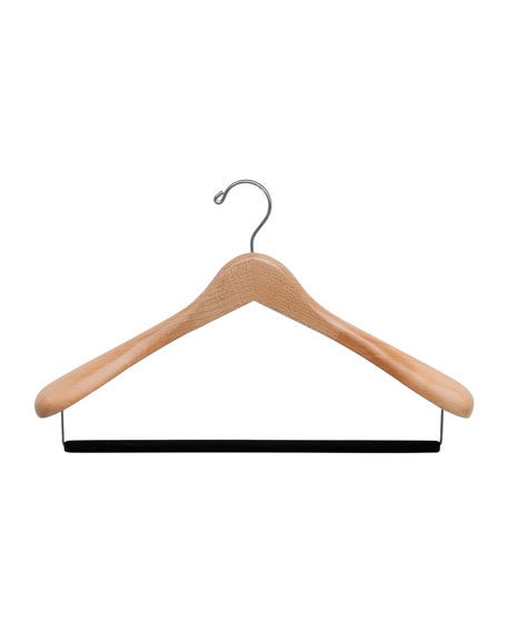 "20"" Wooden Suit Hanger, Natural Finish"