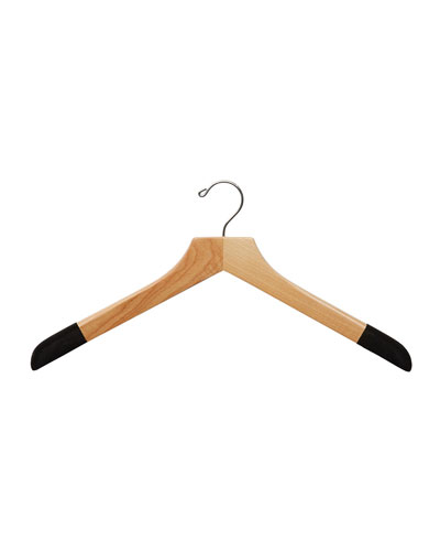 19 Wooden Sweater and Polo Hanger  Natural Finish