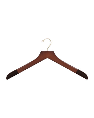 "17"" Wooden Sweater and Polo Hanger, Traditional Finish"