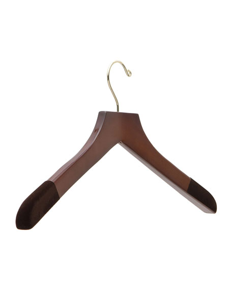 "The Hanger Project 21"" Wooden Sweater and Polo Hanger, Traditional Finish"