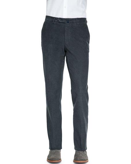 IncotexFine-Wale Corduroy Trousers, Gray