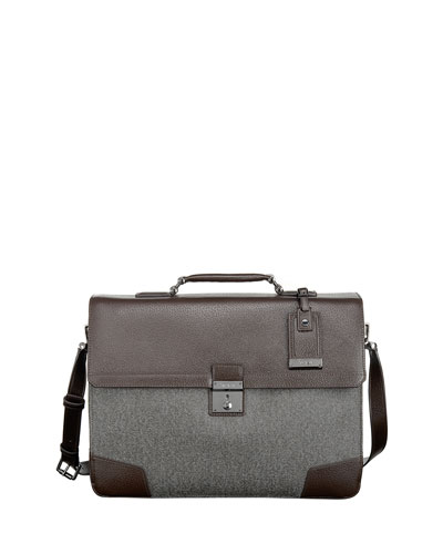 Astor Dorilton Slim Flap Briefcase, Earl Gray