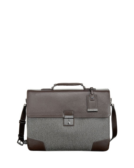 Tumi Astor Dorilton Slim Flap Briefcase, Earl Gray