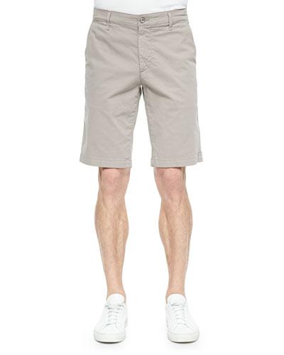 Griffin Flat-Front Shorts, Khaki