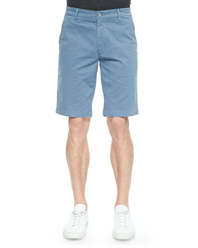 Griffin Flat-Front Shorts, Light Blue