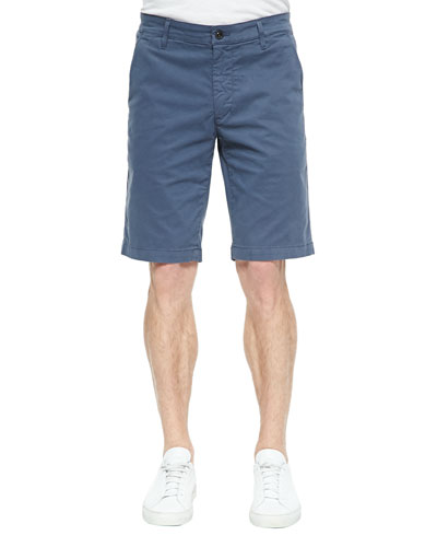 Griffin Flat-Front Shorts, Gray