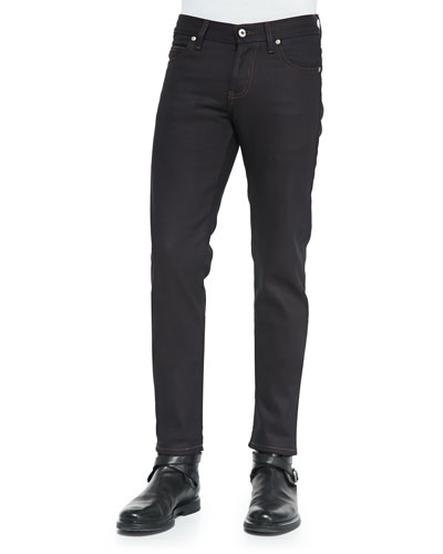 Stretch Woven Skinny-Fit Jeans, Indigo