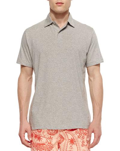 Seaside Wash Solid Polo Shirt, Dark Gray