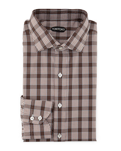 Men 39 s cashmere sweaters coats pants sale at neiman marcus for Brown and black plaid shirt