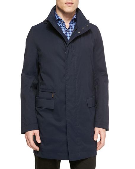 b8ef6e8a Boss Hugo Boss Storm System Mid-Length Jacket & Large-Check Woven Shirt