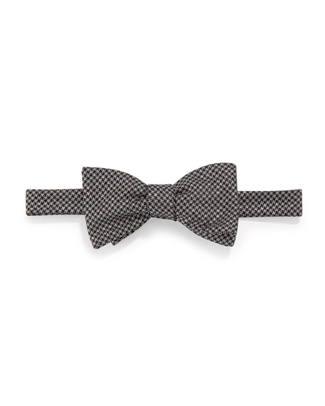 Edward Armah Glitter-Check Bow Tie, Black