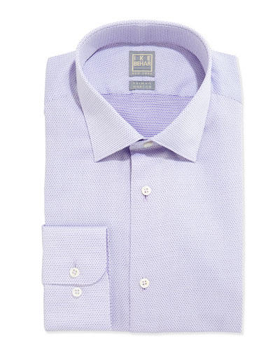 Textured Solid Dress Shirt, Lavender