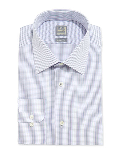 Mini-Graph Check Dress Shirt, Lilac