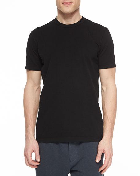 James Perse Crewneck Jersey T-Shirt, Black