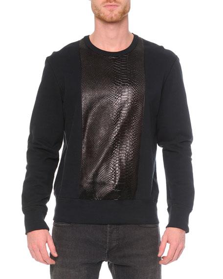 Alexander McQueen Embossed Python-Print Sweatshirt