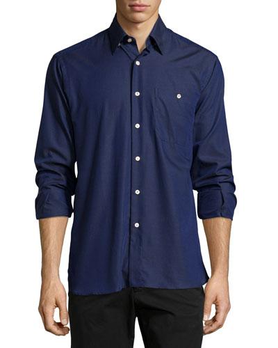 Luke Long-Sleeve Shirt, Blue