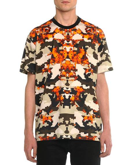 Givenchy Columbian Camo-Print Tee, Orange