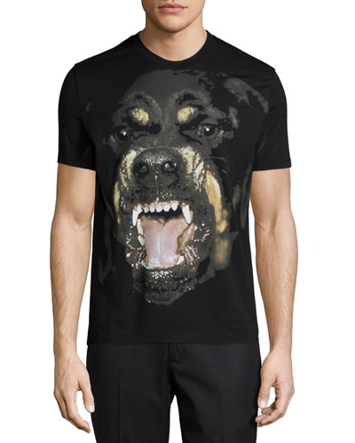Rottweiler Short-Sleeve Graphic Tee, Black