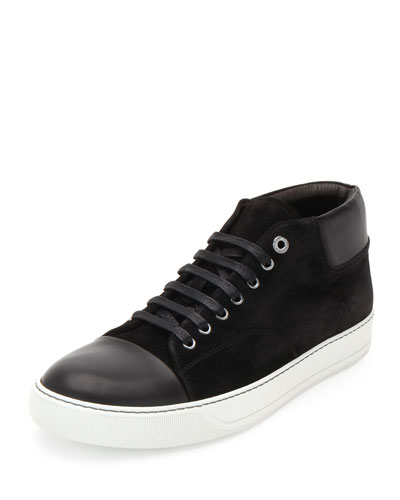 Captoe High-Top Sneaker, Black
