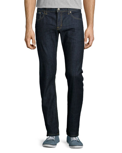 Jimmy Akiba Rinse Selvedge Jeans, Dark Blue