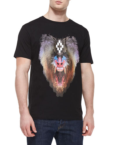 Monkey-Head Graphic Tee, Black