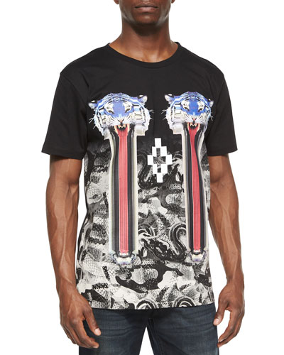 Double-Tiger Graphic Tee, Black