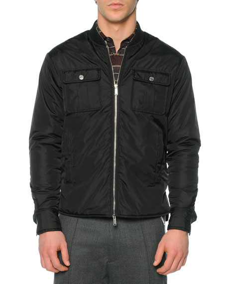 Dsquared2 Puffer Shirt Jacket, Black