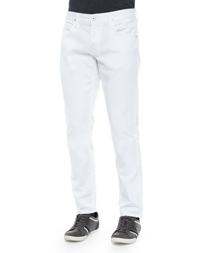 Blake Solid Denim Jeans, White