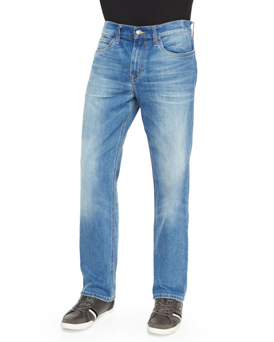 Kellen Classic Straight-Leg Denim Jeans, Blue