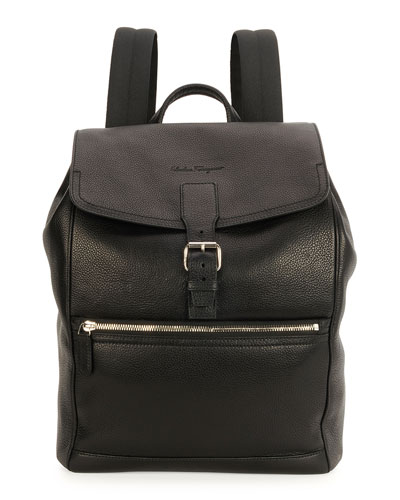 Manhattan Leather Backpack, Black