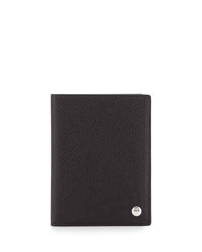 Boston Leather Passport Holder, Black