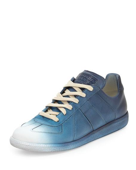 Maison Margiela Replica Low-Top Lace-Up Sneaker, Blue Fade