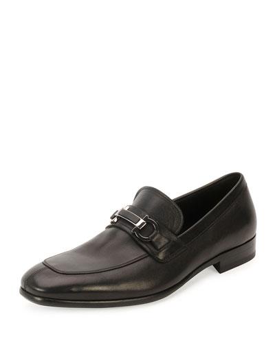 Monaco Calf Leather Loafer, Black