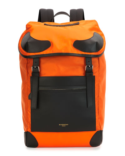 Nylon Backpack, Orange