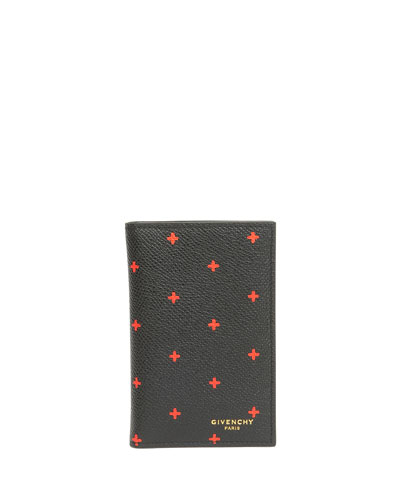 Vertical Card Case, Black/Red