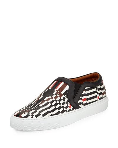 Pixel-Print Skate Shoe, Multi