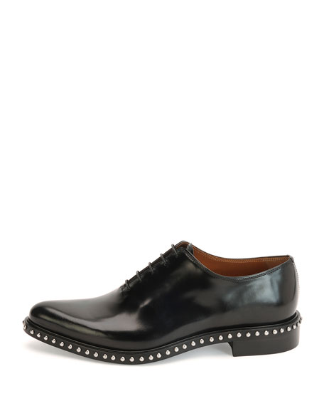 Pirro Lace-Up Studded Shoe, Black