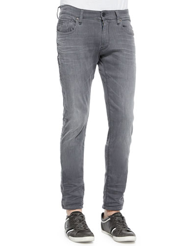 Defend Super-Slim Denim Jeans, Gray