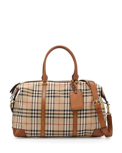 Horseferry Check Duffel Bag, Tan