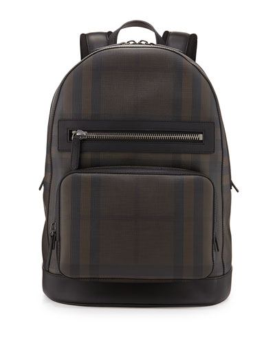 Smoke Check Backpack, Black/Brown