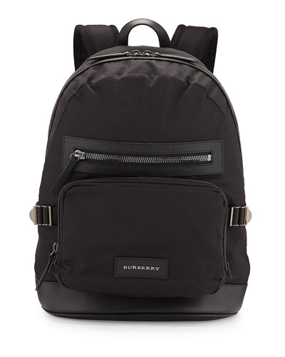 Marden Nylon Backpack, Black