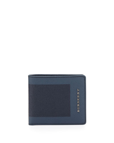Colorblock Bi-Fold Wallet, Navy