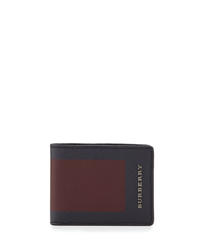 Colorblock Bi-Fold Wallet, Bordeaux