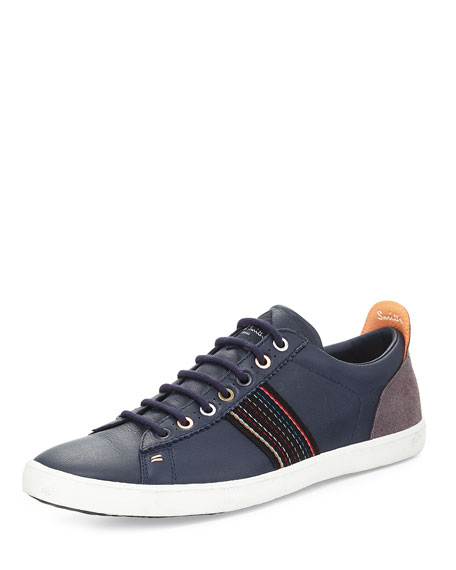 Image 1 of 4: Osmo Galaxy Leather Sneaker, Blue